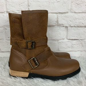 Sorel Major Fold Over Moto Grizzly Bear Boots New!